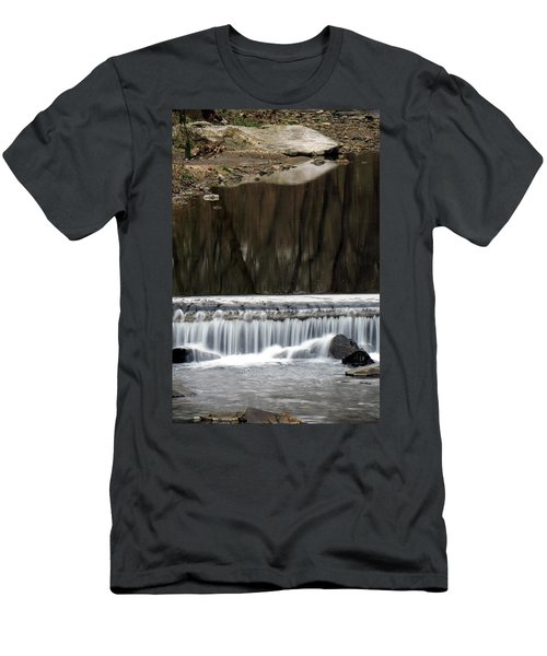 Reflexions And Water Fall Men's T-Shirt (Slim Fit) by Dorin Adrian Berbier