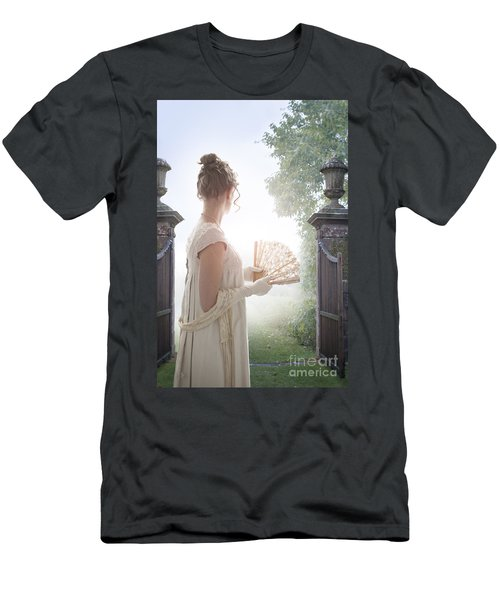 Regency Woman Looking Through A Gateway Men's T-Shirt (Athletic Fit)