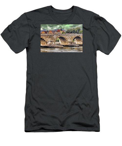 Men's T-Shirt (Slim Fit) featuring the photograph Regensburg Stone Bridge by Dennis Cox WorldViews