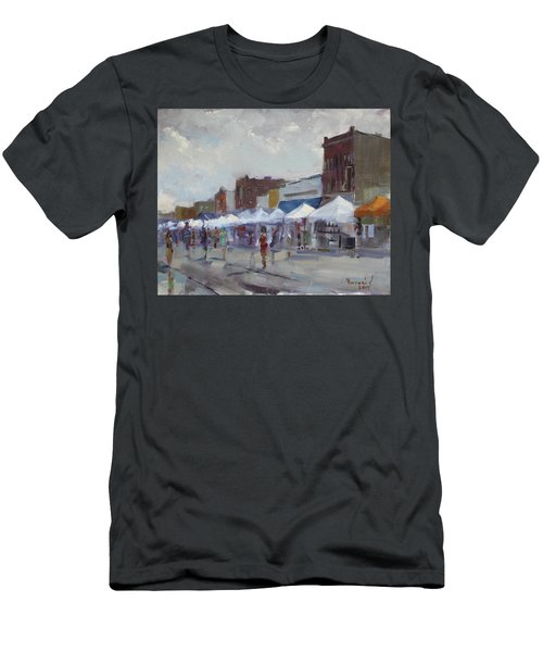 Rein And Sun At Canal Fest In North Tonawanda Men's T-Shirt (Athletic Fit)