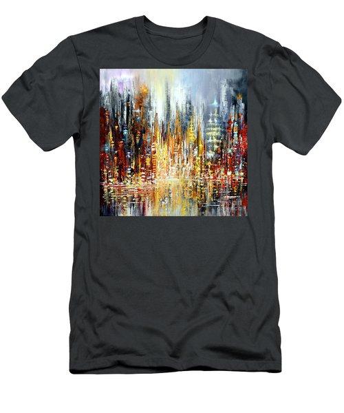 Rejoice Men's T-Shirt (Slim Fit) by Tatiana Iliina