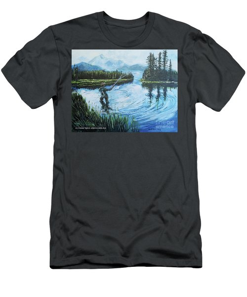 Relaxing @ Fly Fishing Men's T-Shirt (Athletic Fit)