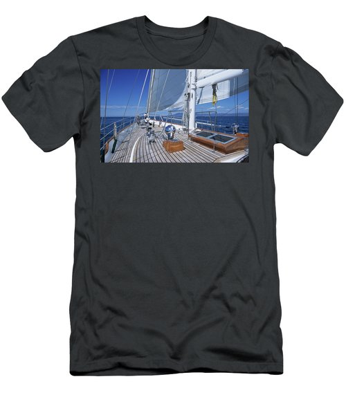 Relaxing On Deck Men's T-Shirt (Athletic Fit)