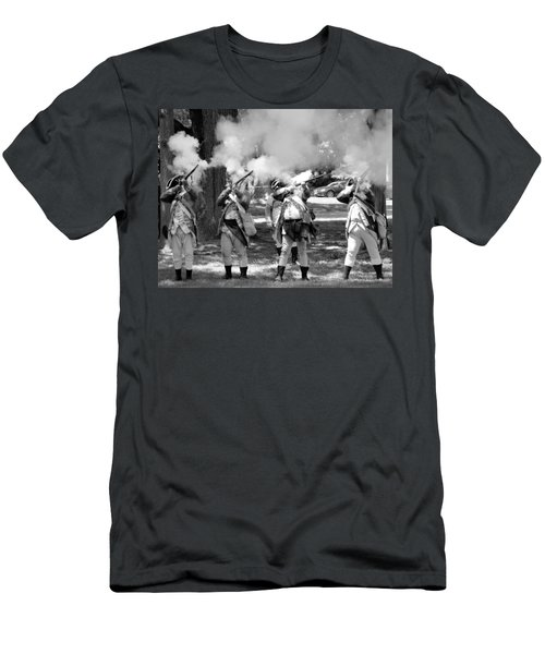 Reliving History-bw Men's T-Shirt (Athletic Fit)