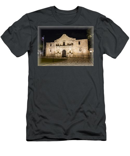 Remembering The Alamo Men's T-Shirt (Slim Fit) by Stephen Stookey