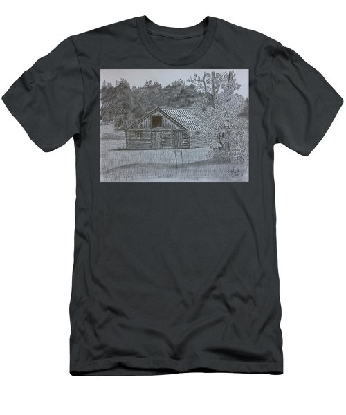 Remote Cabin Men's T-Shirt (Slim Fit) by Tony Clark