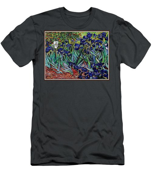 replica of Van Gogh irises Men's T-Shirt (Slim Fit) by Pemaro