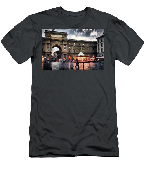 Republic Square In The City Of Florence Men's T-Shirt (Athletic Fit)