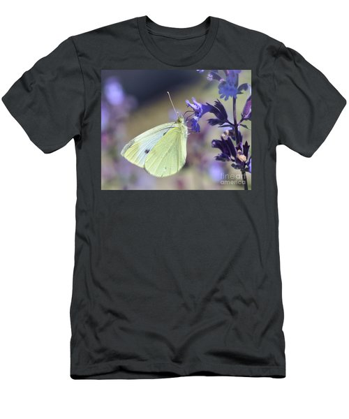 Men's T-Shirt (Athletic Fit) featuring the photograph Resting In The Purple by Kerri Farley