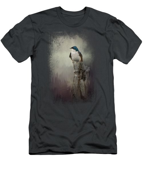 Resting Tree Swallow Men's T-Shirt (Athletic Fit)