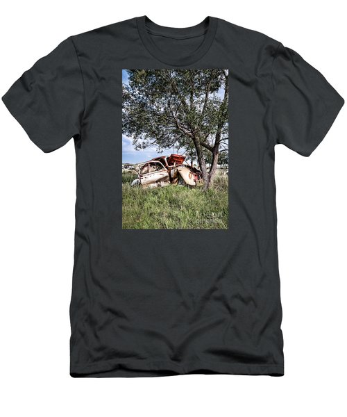 Men's T-Shirt (Slim Fit) featuring the photograph Retired Bug by Lawrence Burry