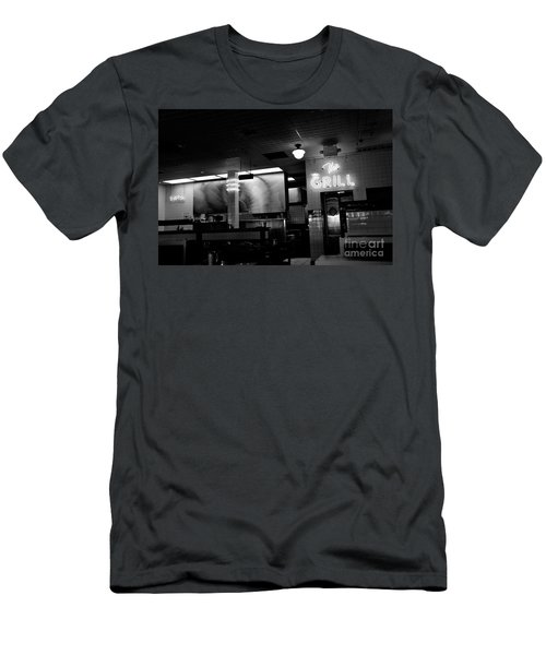 Retro Diner In Athens, Georgia -black And White Men's T-Shirt (Athletic Fit)