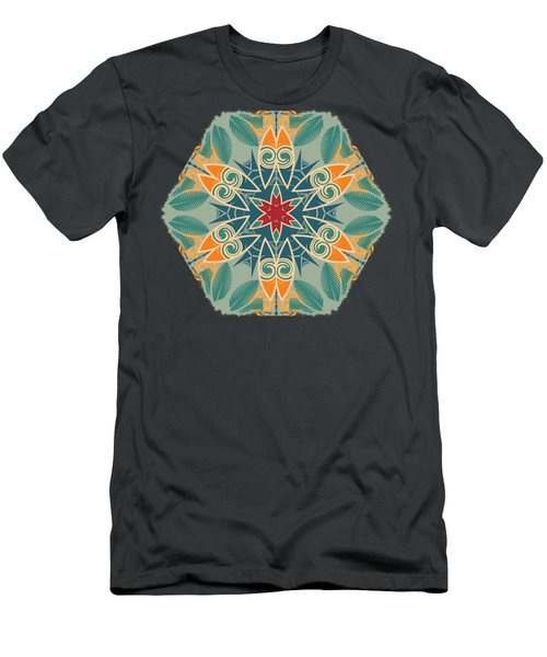 Men's T-Shirt (Slim Fit) featuring the photograph Retro Surfboard Woodcut by Mary Machare