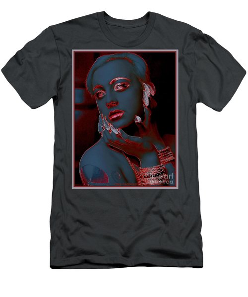 Retro Beauty Men's T-Shirt (Slim Fit) by Irma BACKELANT GALLERIES