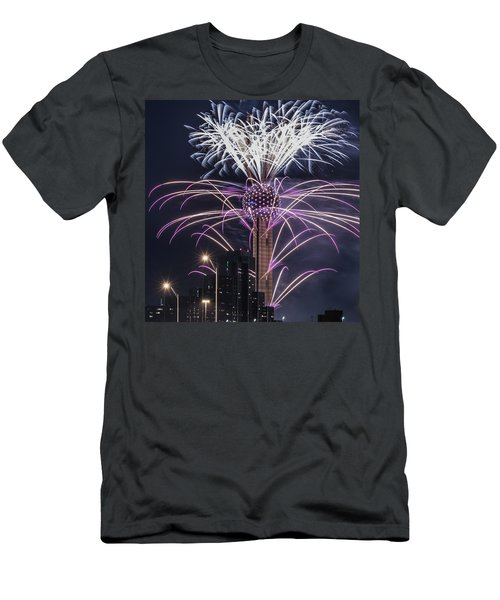 Reunion Tower Fireworks Men's T-Shirt (Athletic Fit)
