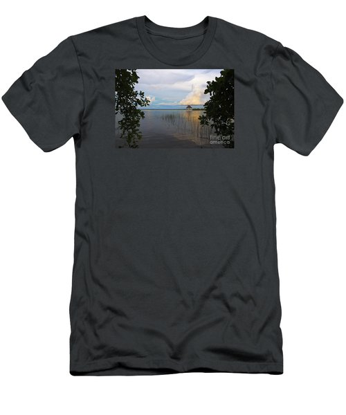 Men's T-Shirt (Slim Fit) featuring the photograph Revealing The Lagoon by Yuri Santin