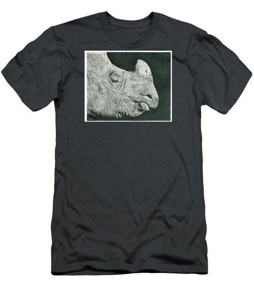 Rhino Pencil Drawing Men's T-Shirt (Athletic Fit)