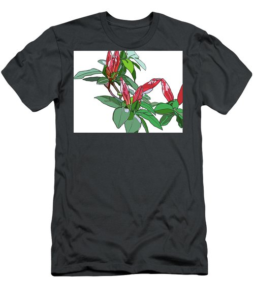 Rhododendron Buds Men's T-Shirt (Athletic Fit)