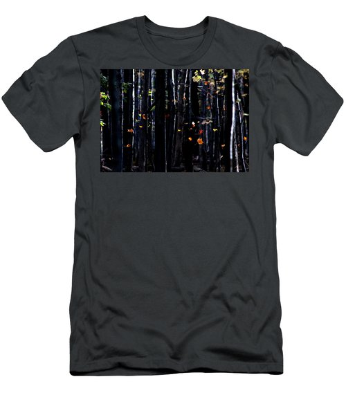 Men's T-Shirt (Slim Fit) featuring the photograph Rhythm Of Leaves Falling by Bruce Patrick Smith
