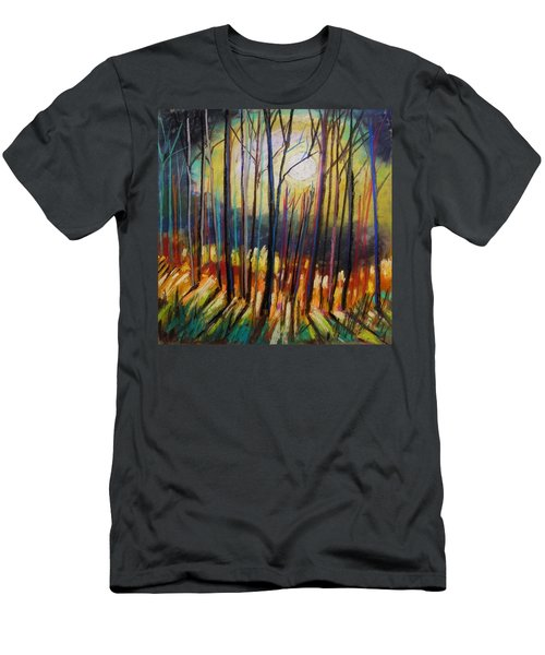 Men's T-Shirt (Slim Fit) featuring the painting Ribbons Of Moonlight by John Williams