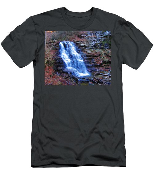 Ricketts Glen Waterfall 3941  Men's T-Shirt (Athletic Fit)