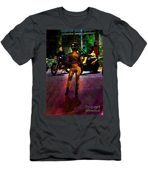 Men's T-Shirt (Slim Fit) featuring the photograph Riding Companion II by Al Bourassa