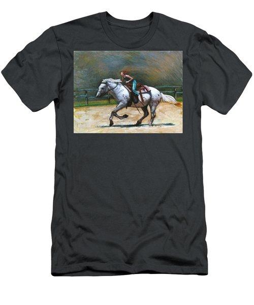 Riding Dollar Men's T-Shirt (Athletic Fit)