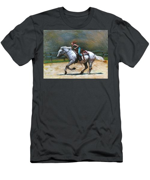 Riding Dollar Men's T-Shirt (Athletic Fit)