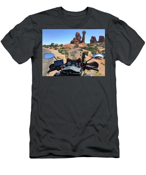 Riding In Arches National Park Men's T-Shirt (Athletic Fit)