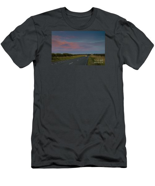 Riding Into The Sunset Men's T-Shirt (Slim Fit) by David  Hollingworth