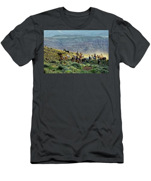 Riding Out Of The Sunrise Men's T-Shirt (Athletic Fit)