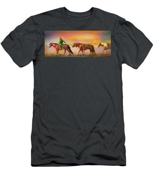 Riding The Surf Men's T-Shirt (Athletic Fit)