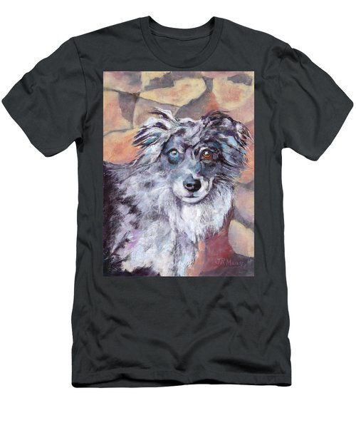 Men's T-Shirt (Slim Fit) featuring the painting Riley by Julie Maas