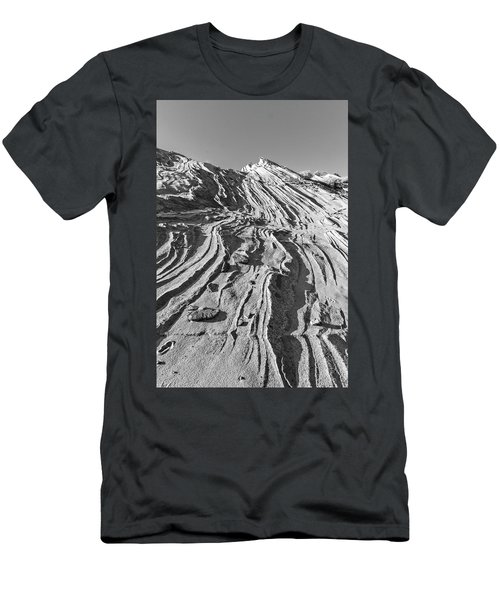 Rippled Sandstone At Waterhole Canyon Men's T-Shirt (Athletic Fit)