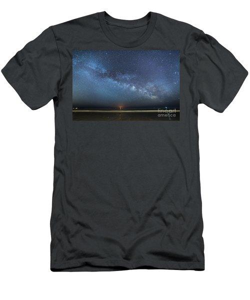 Rising Tide Rising Moon Rising Milky Way Men's T-Shirt (Athletic Fit)