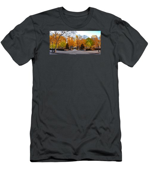 Men's T-Shirt (Athletic Fit) featuring the photograph Rittenhouse Square Philadelphia Pa by Bill Cannon