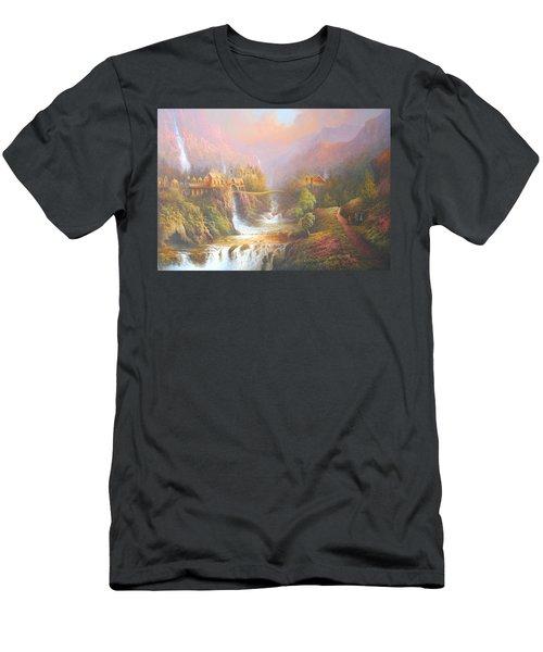 Rivendell Men's T-Shirt (Slim Fit) by Joe Gilronan