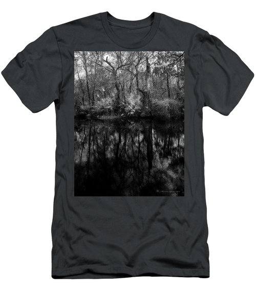 River Bank Palmetto Men's T-Shirt (Slim Fit) by Marvin Spates