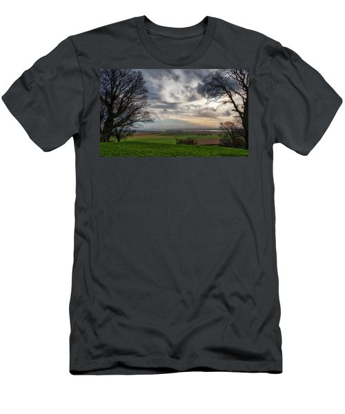 Men's T-Shirt (Athletic Fit) featuring the photograph River Forth View From Clackmannan Tower by Jeremy Lavender Photography