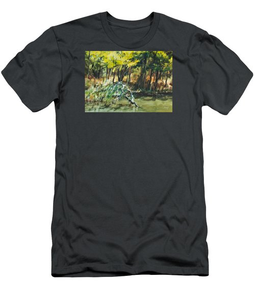 River In Summer Men's T-Shirt (Athletic Fit)