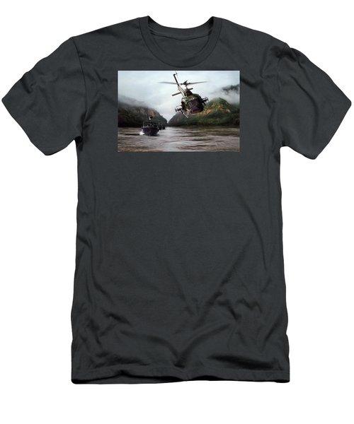 River Patrol Men's T-Shirt (Slim Fit) by Peter Chilelli