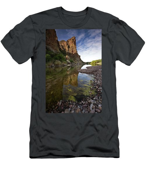 River Serenity Men's T-Shirt (Slim Fit) by Sue Cullumber