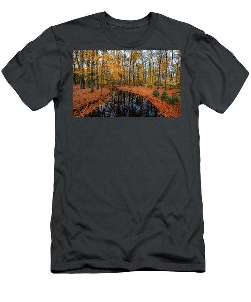 River Through Autumn Men's T-Shirt (Athletic Fit)