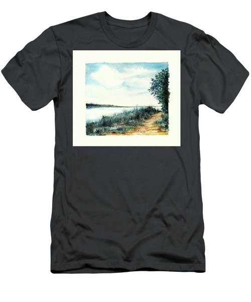 River Walk Men's T-Shirt (Slim Fit) by Heidi Kriel