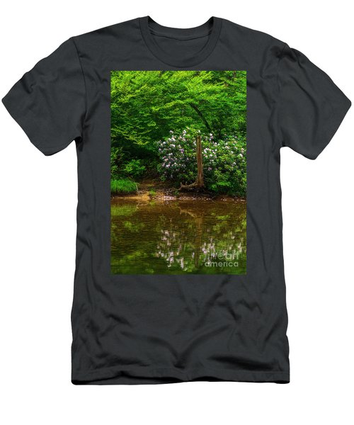 Riverside Rhododendron Men's T-Shirt (Athletic Fit)