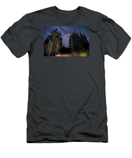 Road To Milky Way Men's T-Shirt (Slim Fit) by Michael J Bauer