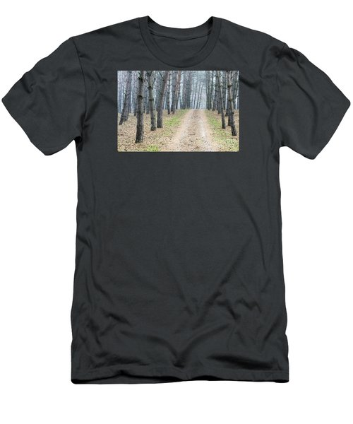 Road To Pine Forest Men's T-Shirt (Slim Fit) by Odon Czintos