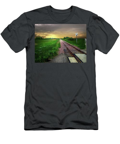 Road Track Crossing Men's T-Shirt (Athletic Fit)