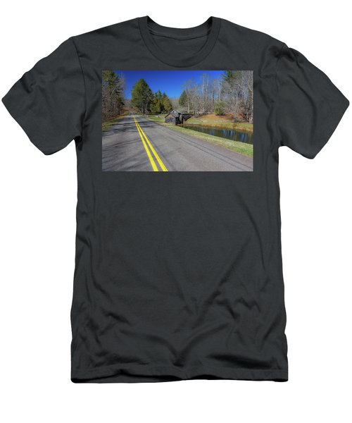 Road View Of Mabry Mill Men's T-Shirt (Athletic Fit)