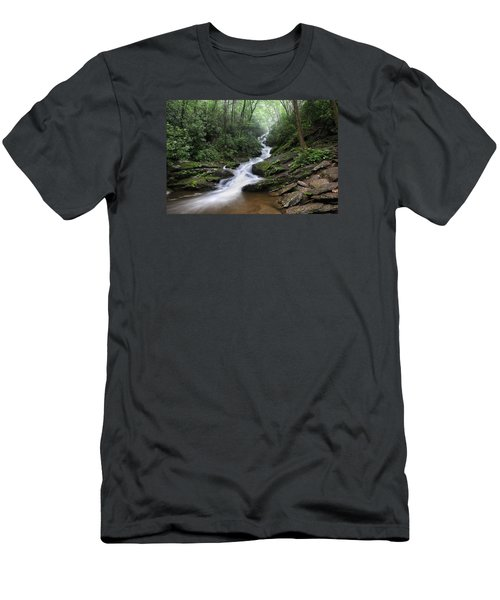 Roaring Fork Falls Men's T-Shirt (Athletic Fit)